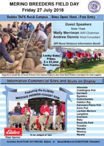 Midstate Merino Field Day - Flyer 2018